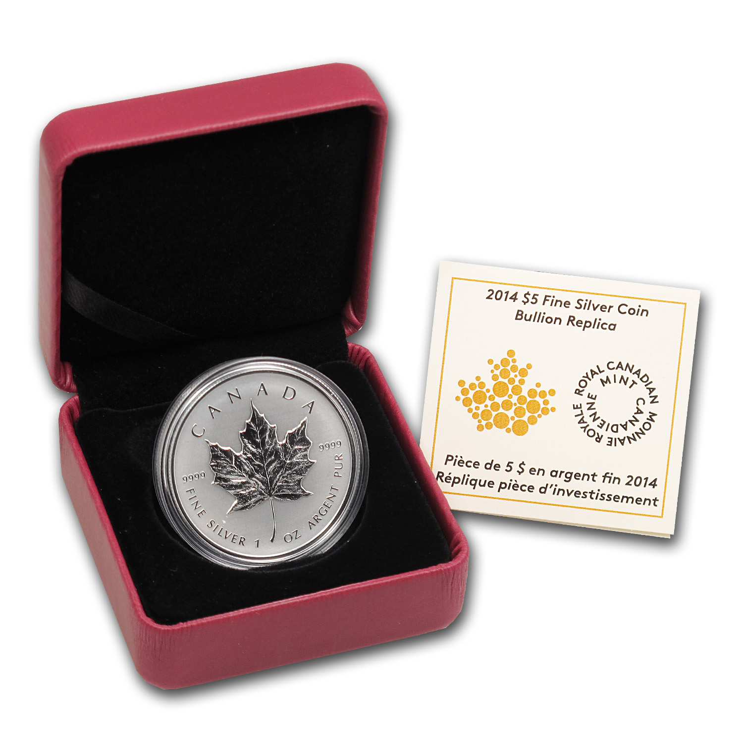 2014 Canada 1 oz Silver Reverse Proof Maple Leaf